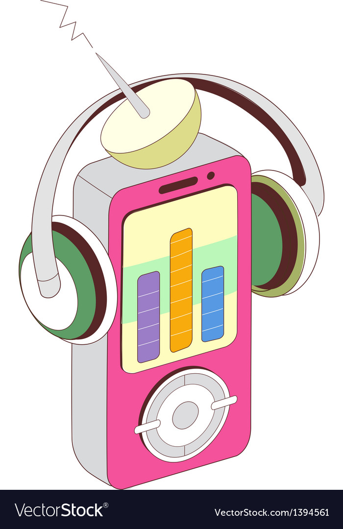 A music player vector | Price: 1 Credit (USD $1)