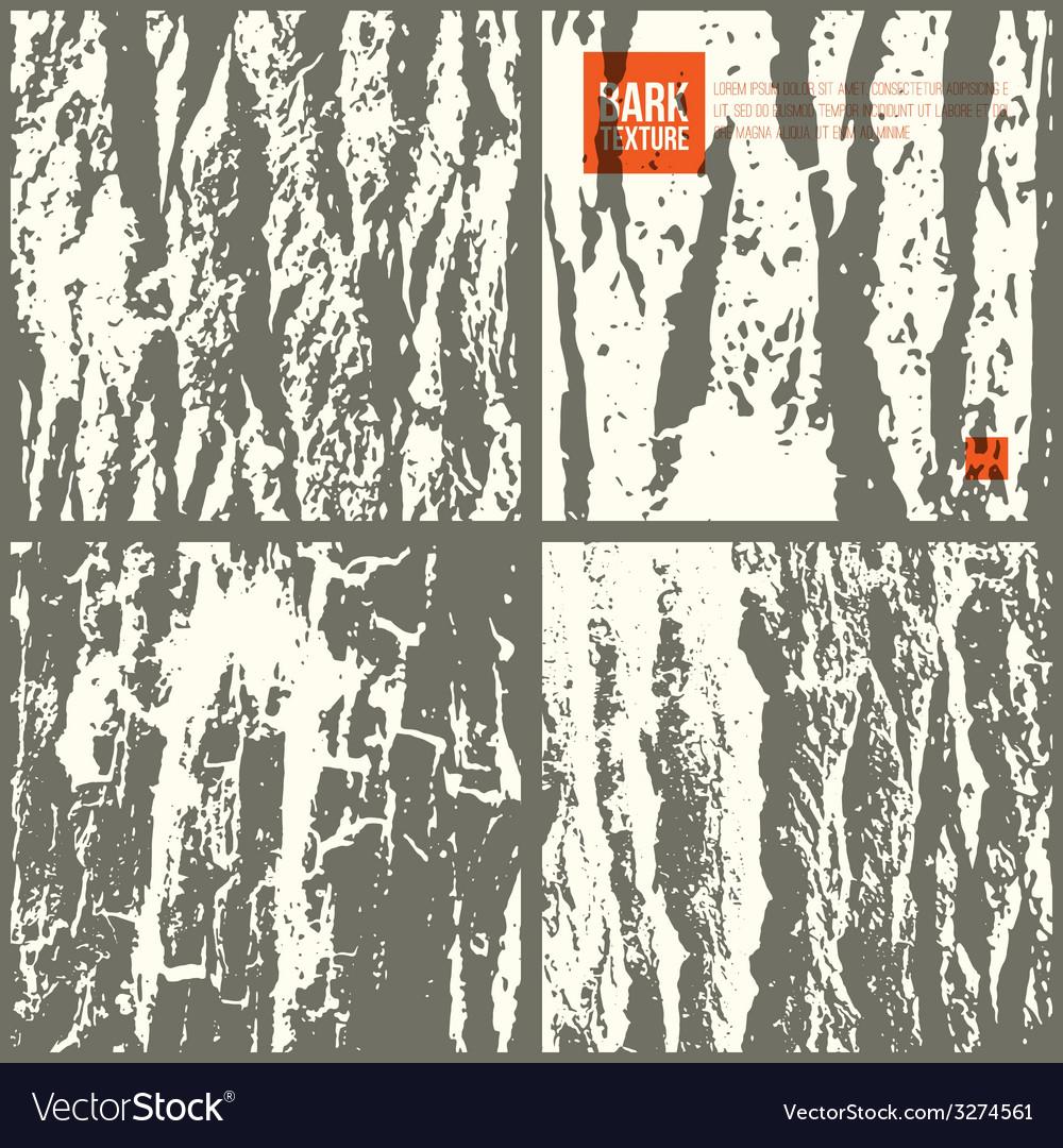 Bark tree texture set vector | Price: 1 Credit (USD $1)