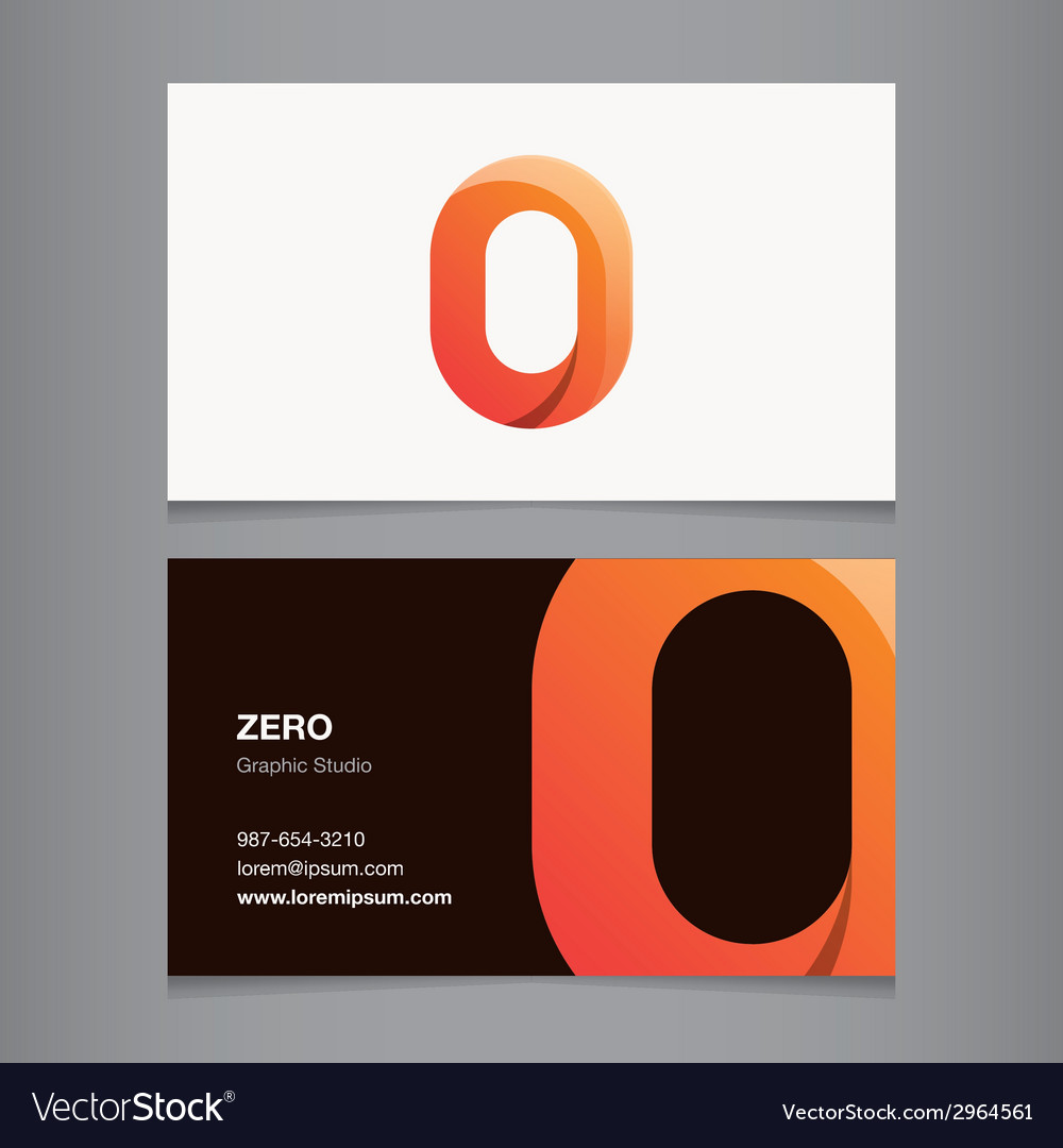 Business card number 0 vector | Price: 1 Credit (USD $1)