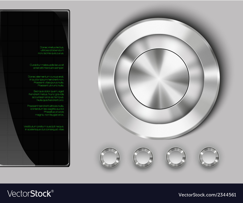 Buttons on a metall vector | Price: 1 Credit (USD $1)