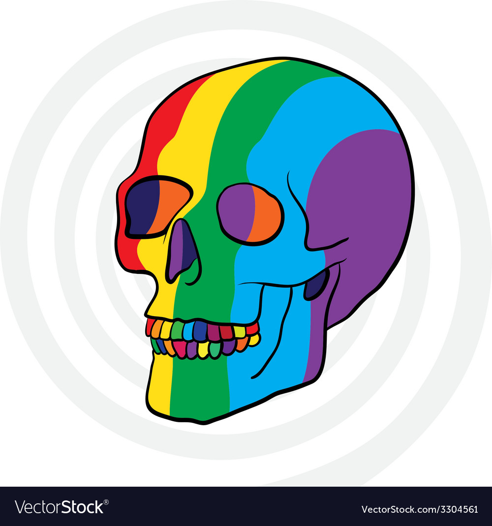 Color skull vector | Price: 1 Credit (USD $1)