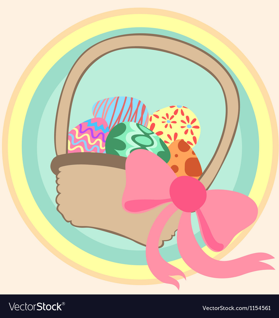 Easter basket vector | Price: 1 Credit (USD $1)