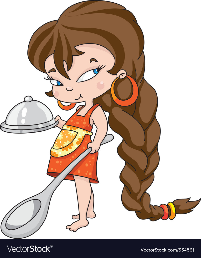 Girl cooking vector | Price: 3 Credit (USD $3)