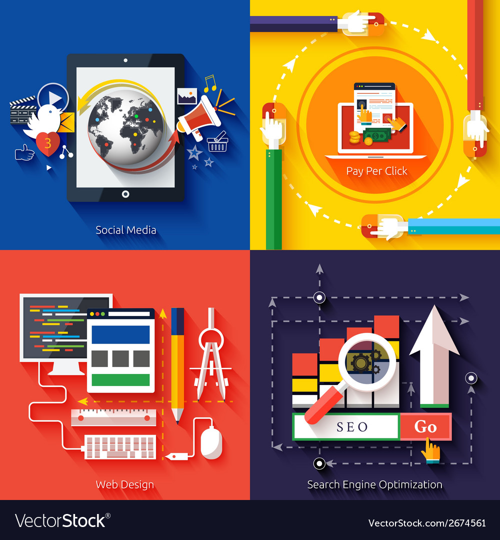 Icons for web design seo social media vector | Price: 1 Credit (USD $1)