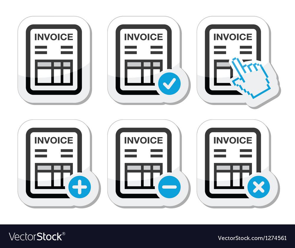 Invoice finance icons set vector   Price: 1 Credit (USD $1)