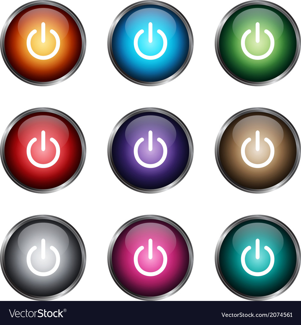 Onoff buttons vector | Price: 1 Credit (USD $1)