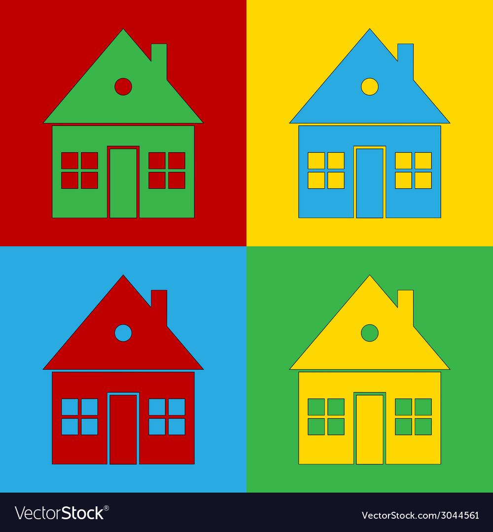 Pop art home vector | Price: 1 Credit (USD $1)
