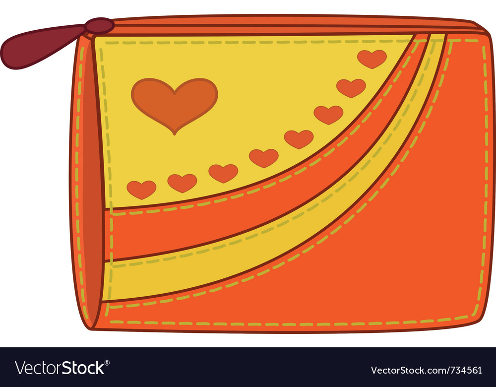 Purse with valentine hearts vector | Price: 1 Credit (USD $1)