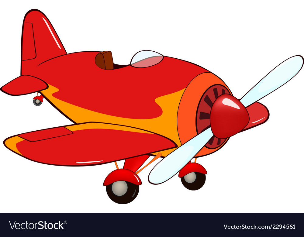 The red plane vector | Price: 1 Credit (USD $1)
