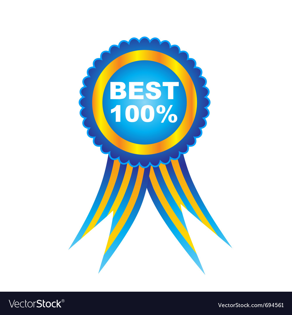 Ribbon award vector | Price: 1 Credit (USD $1)
