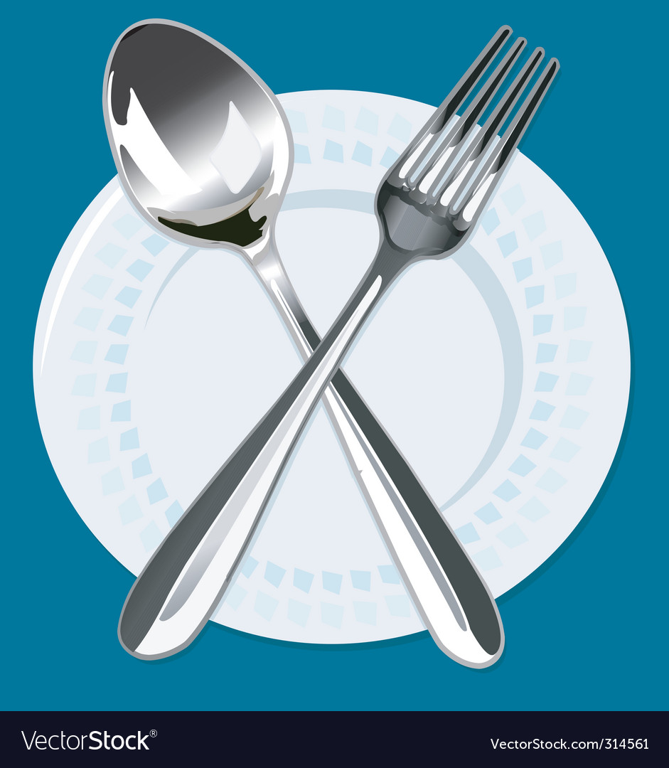 Spoon and fork vector | Price: 1 Credit (USD $1)