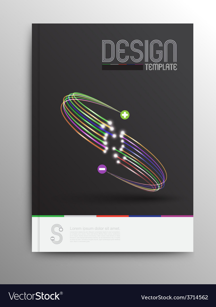 Brochure design template business abstract vector | Price: 1 Credit (USD $1)