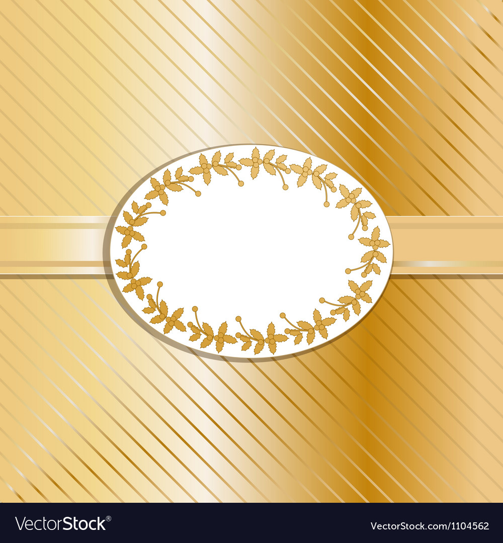 Christmas background and label gold vector | Price: 1 Credit (USD $1)