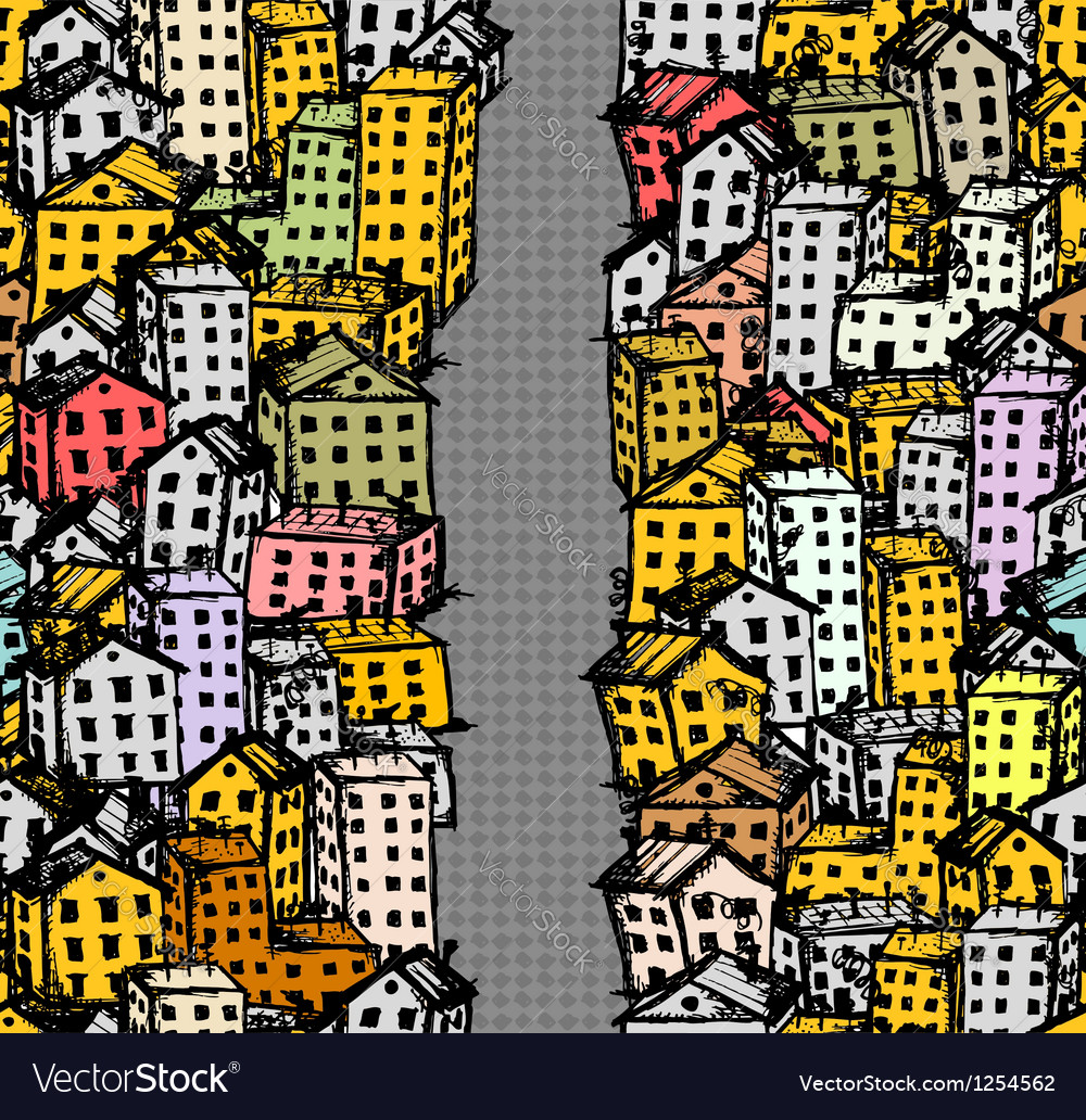 City street sketch seamless background for your vector | Price: 1 Credit (USD $1)