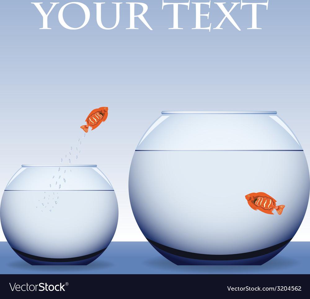 Goldfish jumping vector   Price: 1 Credit (USD $1)