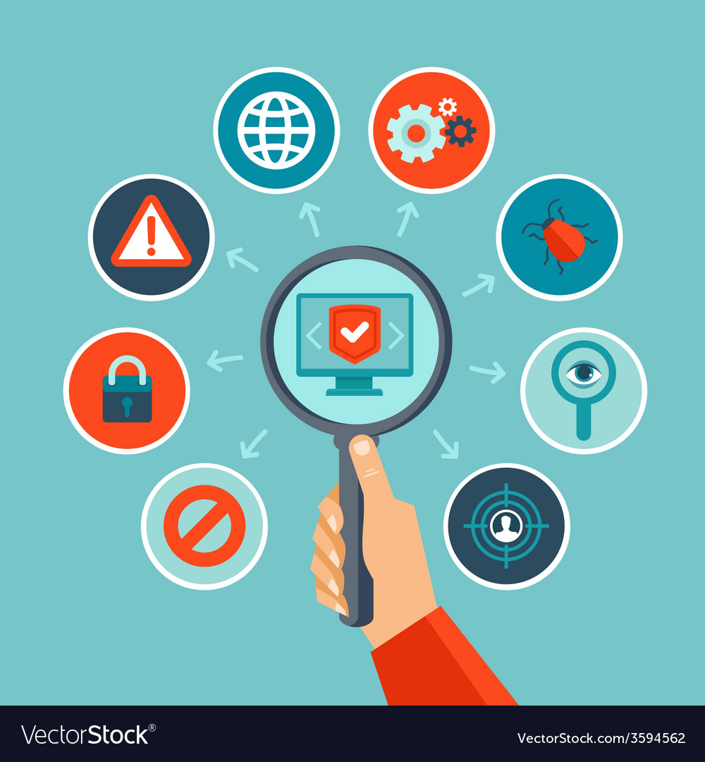 Internet security concept in flat style vector | Price: 1 Credit (USD $1)