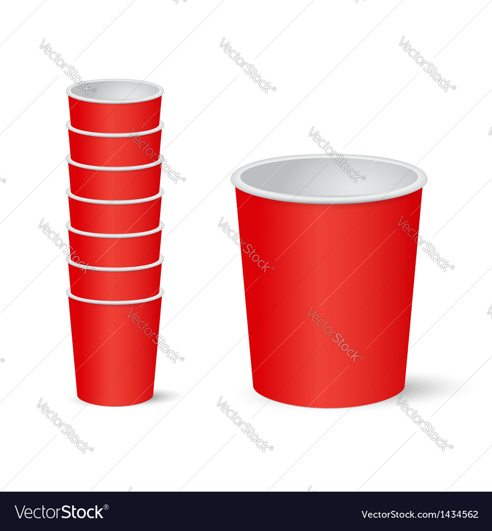 Party cups vector | Price: 1 Credit (USD $1)