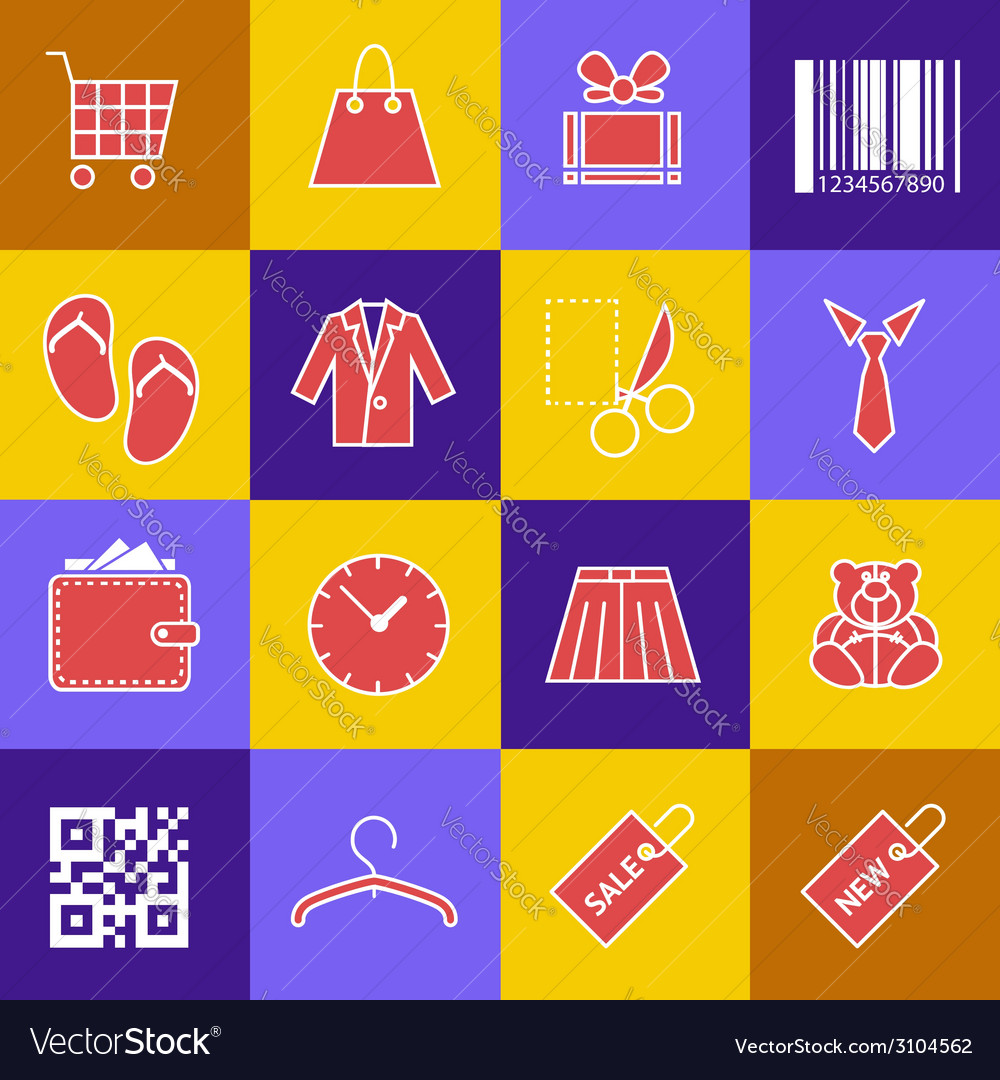 Set-of-shopping-icons vector | Price: 1 Credit (USD $1)