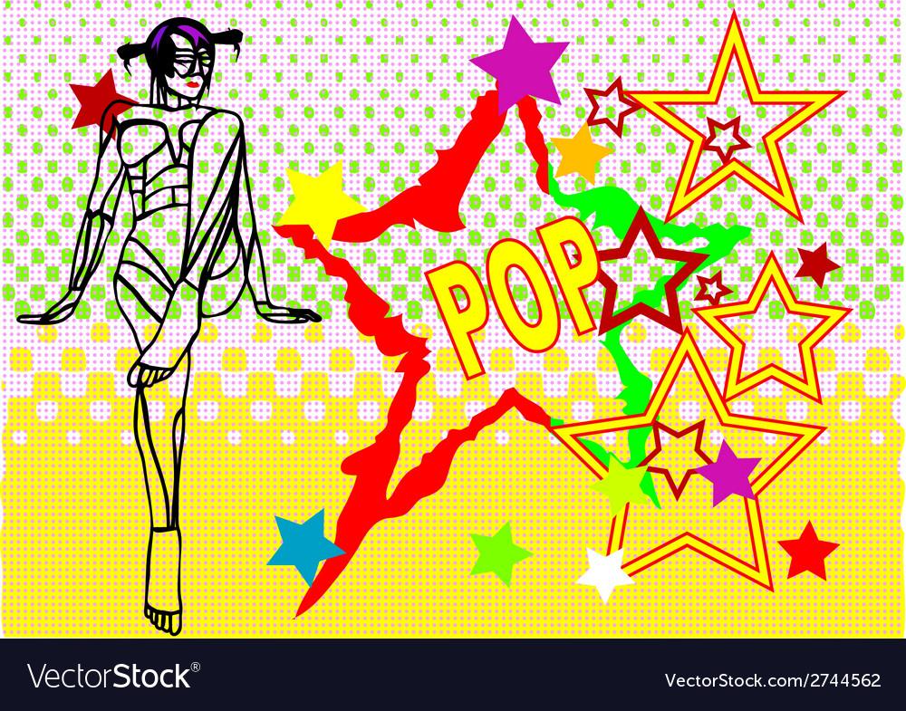 Stars in pop art vector | Price: 1 Credit (USD $1)