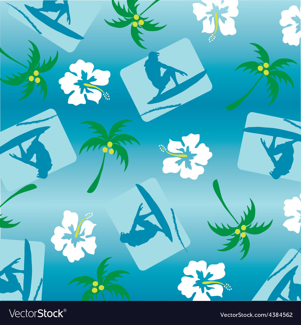 Surfer pattern vector | Price: 1 Credit (USD $1)