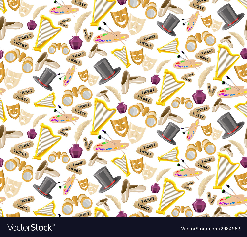 Theatre seamless pattern vector | Price: 1 Credit (USD $1)