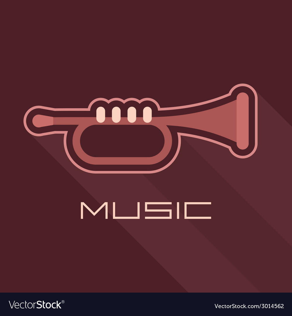 Trumpet icon with text vector | Price: 1 Credit (USD $1)