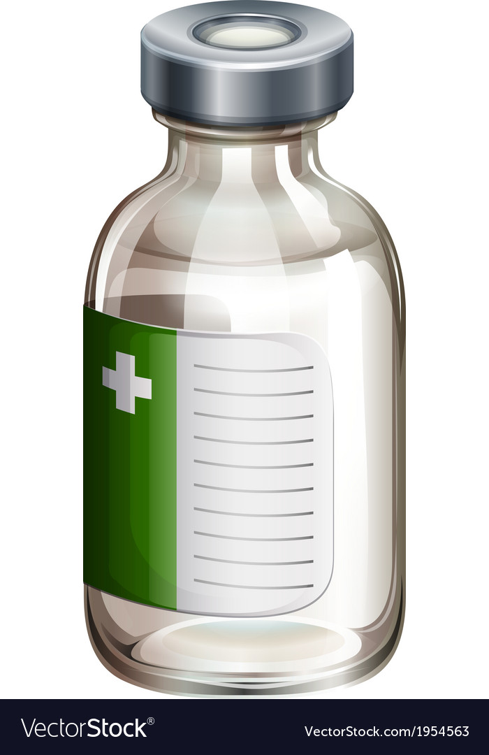A vaccine bottle vector | Price: 1 Credit (USD $1)