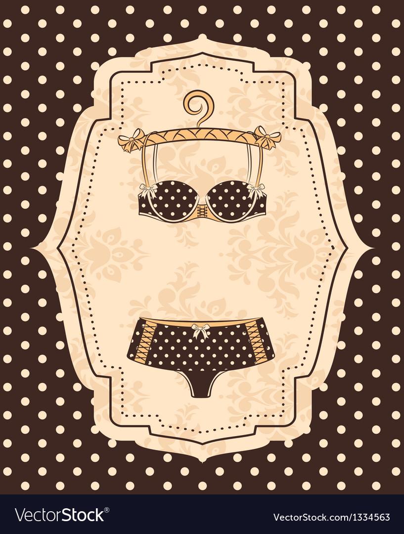 Beautiful lingerie vector | Price: 1 Credit (USD $1)