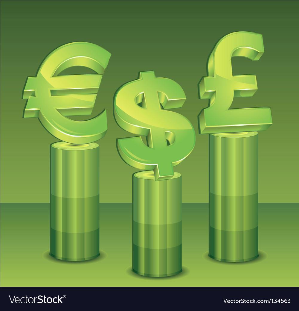 Money pedestal vector | Price: 1 Credit (USD $1)
