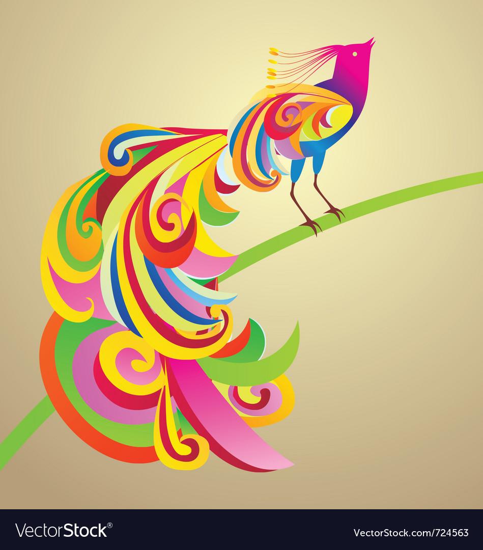 Peafowl bird decor vector | Price: 1 Credit (USD $1)