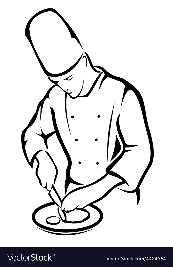 Chef cooking vector | Price: 1 Credit (USD $1)