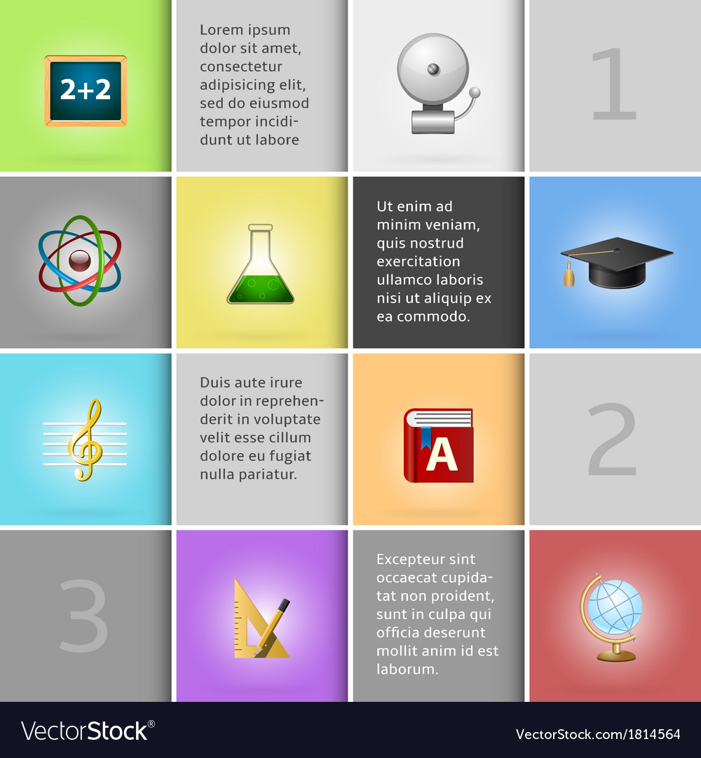 Education infographic elements vector | Price: 1 Credit (USD $1)