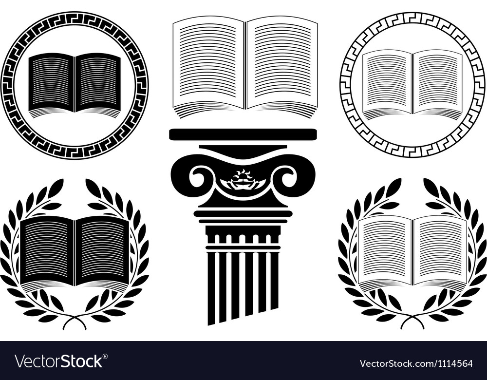 Education stencil third variant vector | Price: 1 Credit (USD $1)