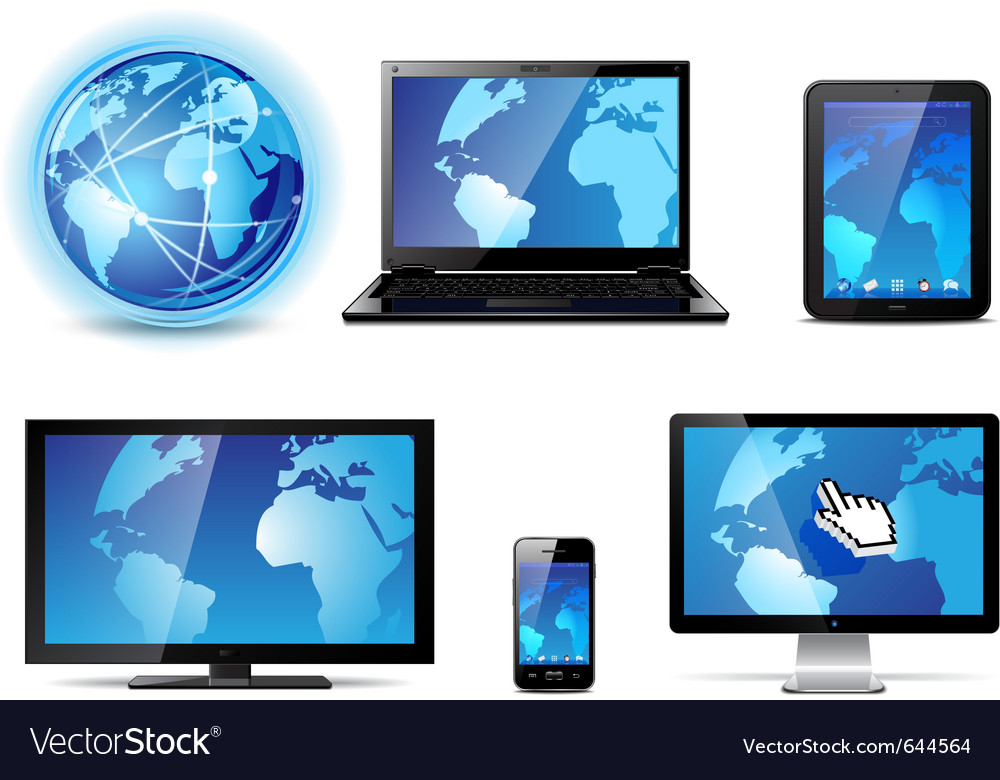 Electronic devices vector | Price: 3 Credit (USD $3)
