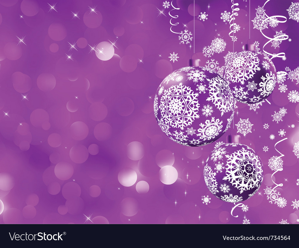 Elegant christmas bauble card vector | Price: 1 Credit (USD $1)