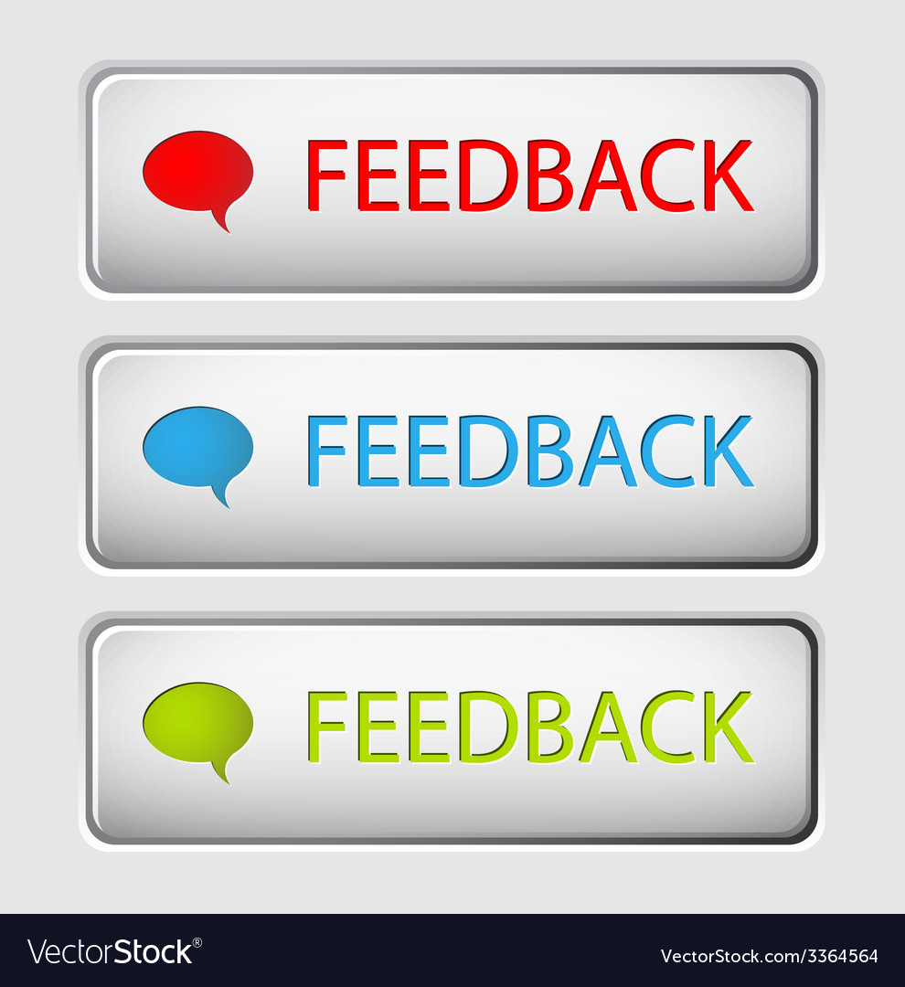 Feedback buttons vector | Price: 1 Credit (USD $1)