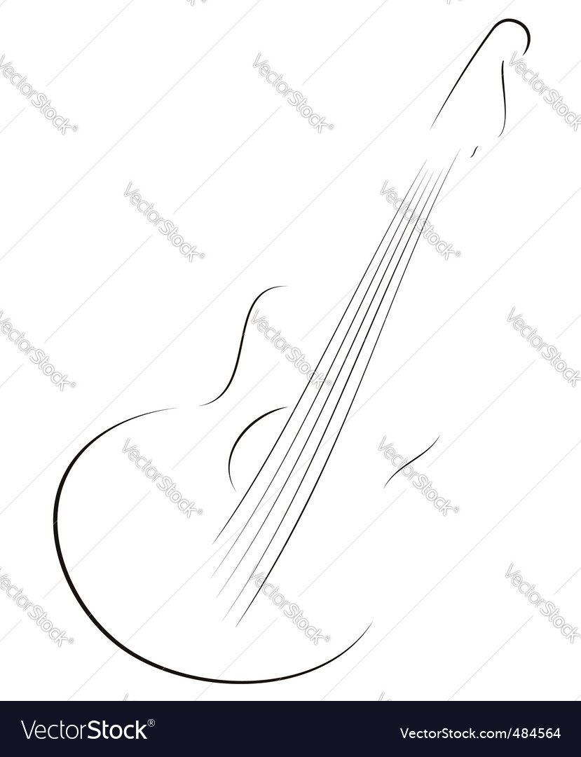 Guitar sketch vector | Price: 1 Credit (USD $1)