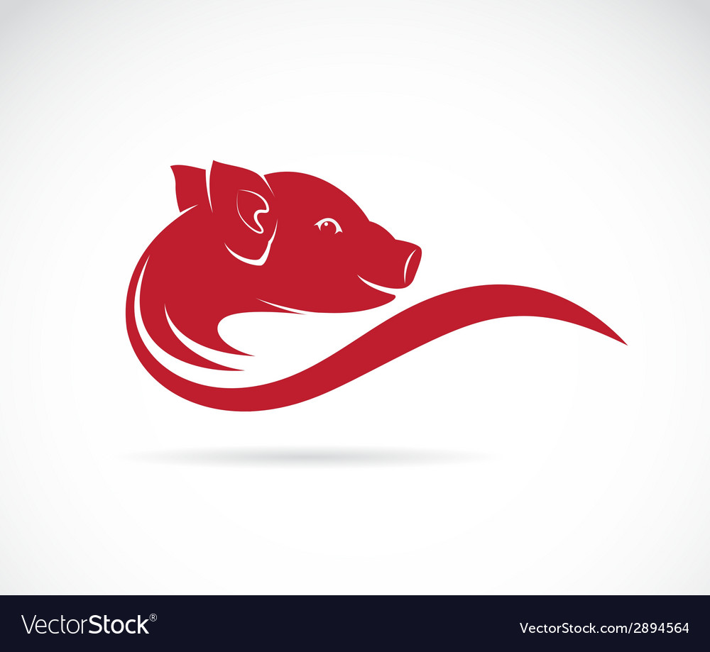 Image of an pig vector | Price: 1 Credit (USD $1)
