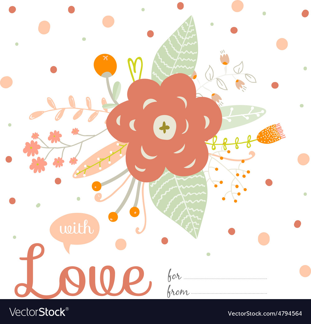 Romantic and love summer bouquet of flowers vector | Price: 1 Credit (USD $1)