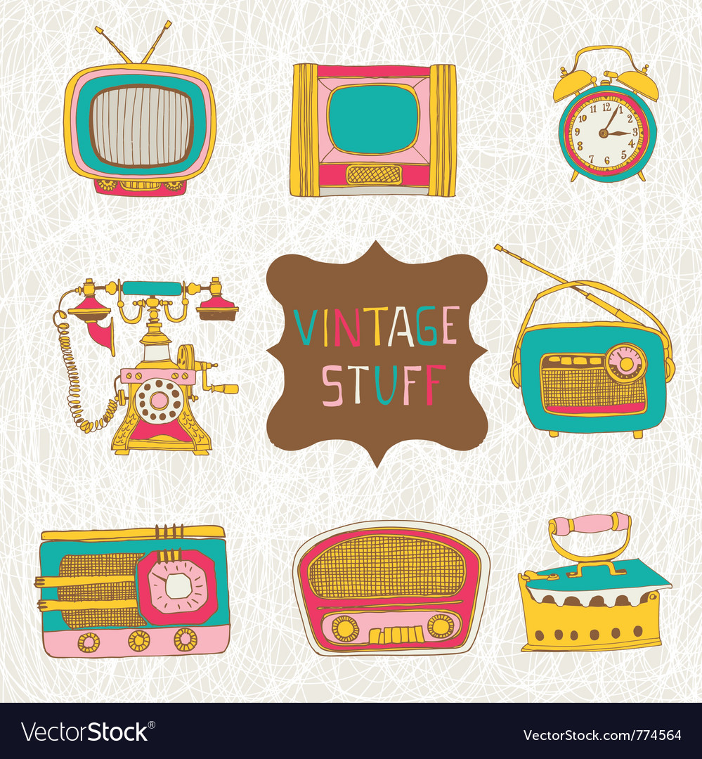 Vintage stuff vector | Price: 1 Credit (USD $1)