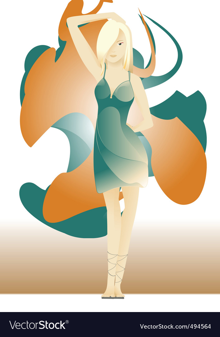 Young woman vector | Price: 1 Credit (USD $1)