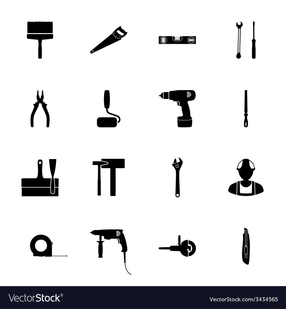 Building silhouettes icons set vector | Price: 1 Credit (USD $1)