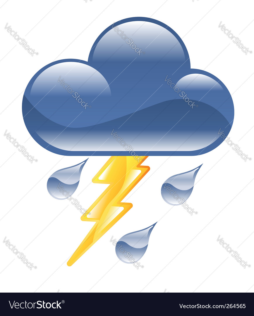 Lightning storm illustration vector | Price: 1 Credit (USD $1)