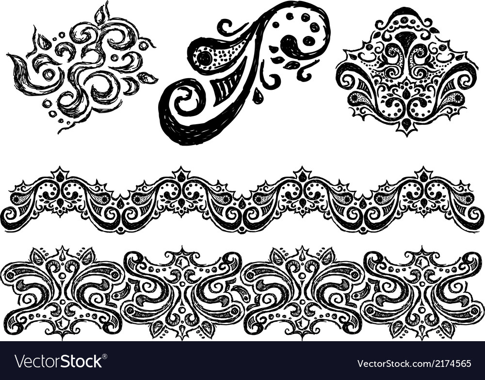 Ornament line vector | Price: 1 Credit (USD $1)