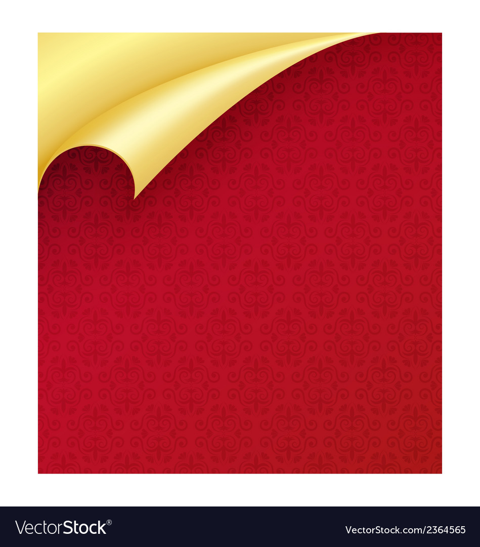 Red paper with vintage texture and curled corner vector | Price: 1 Credit (USD $1)