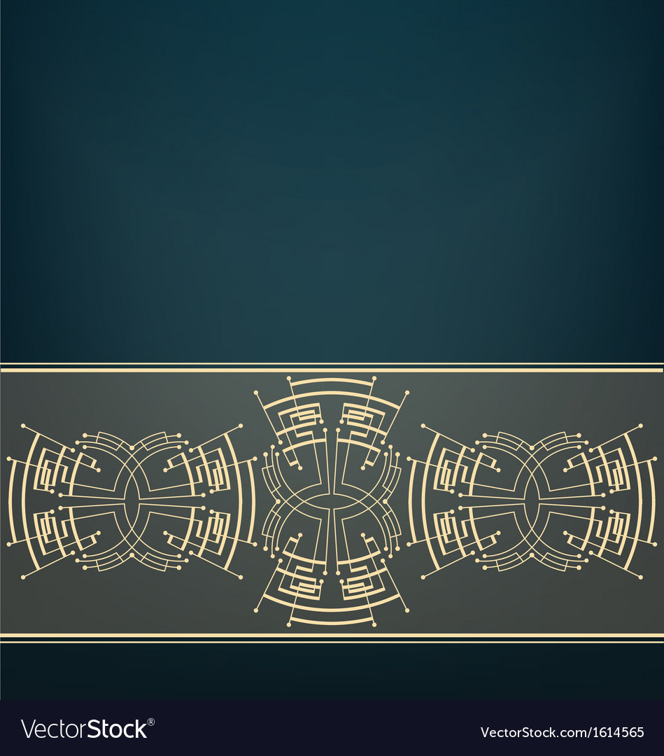 Retro art deco stylized background vector | Price: 1 Credit (USD $1)
