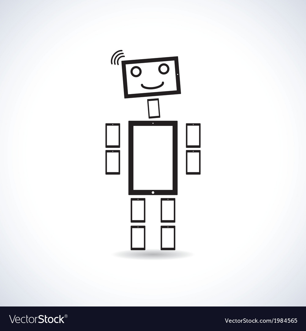 Robot vector | Price: 1 Credit (USD $1)
