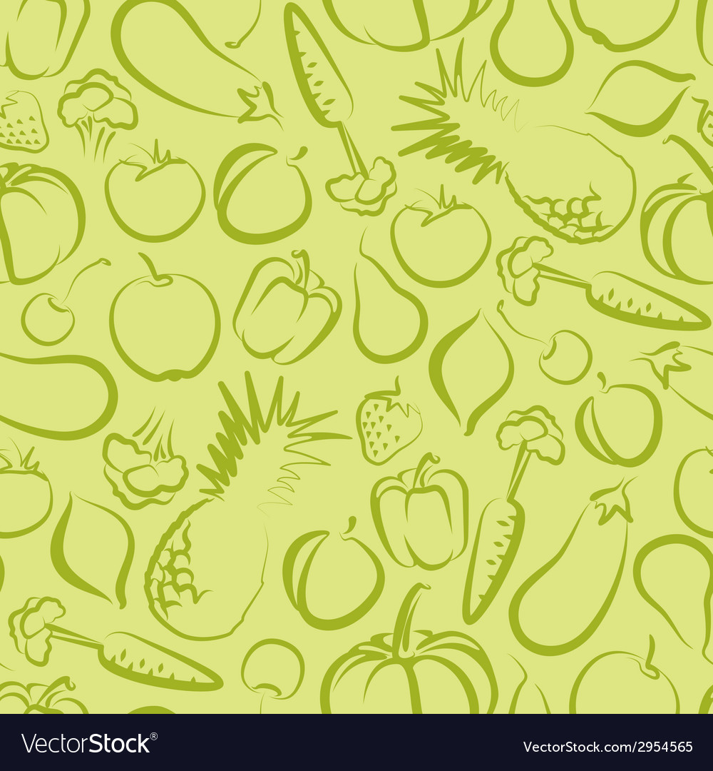 Seamless background with fruit and vegetables vector | Price: 1 Credit (USD $1)