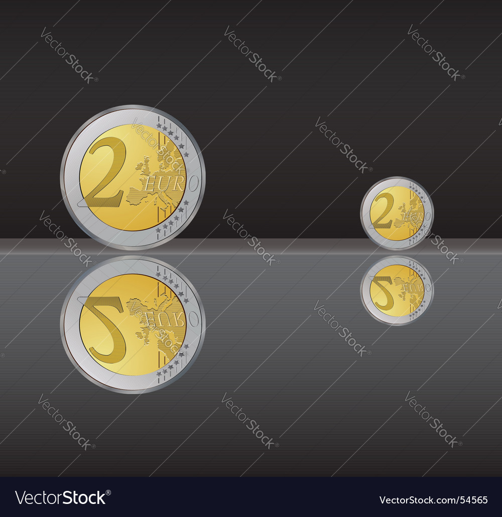 Two euro coin vector | Price: 1 Credit (USD $1)