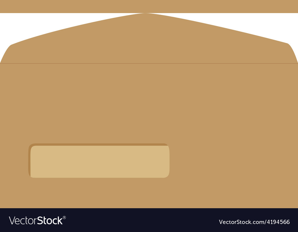 Brown opened envelope vector | Price: 1 Credit (USD $1)